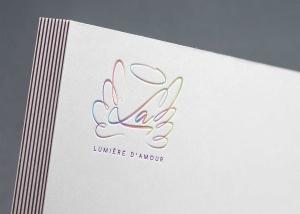 Création logotype Association Lumière D'Amour Bien Être Studio Locadesign 83