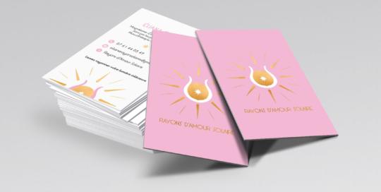 Identité visuelle & Communication digitale Thérapeute Rayons d'amour solaires Bien Être Création studio locadesign 83