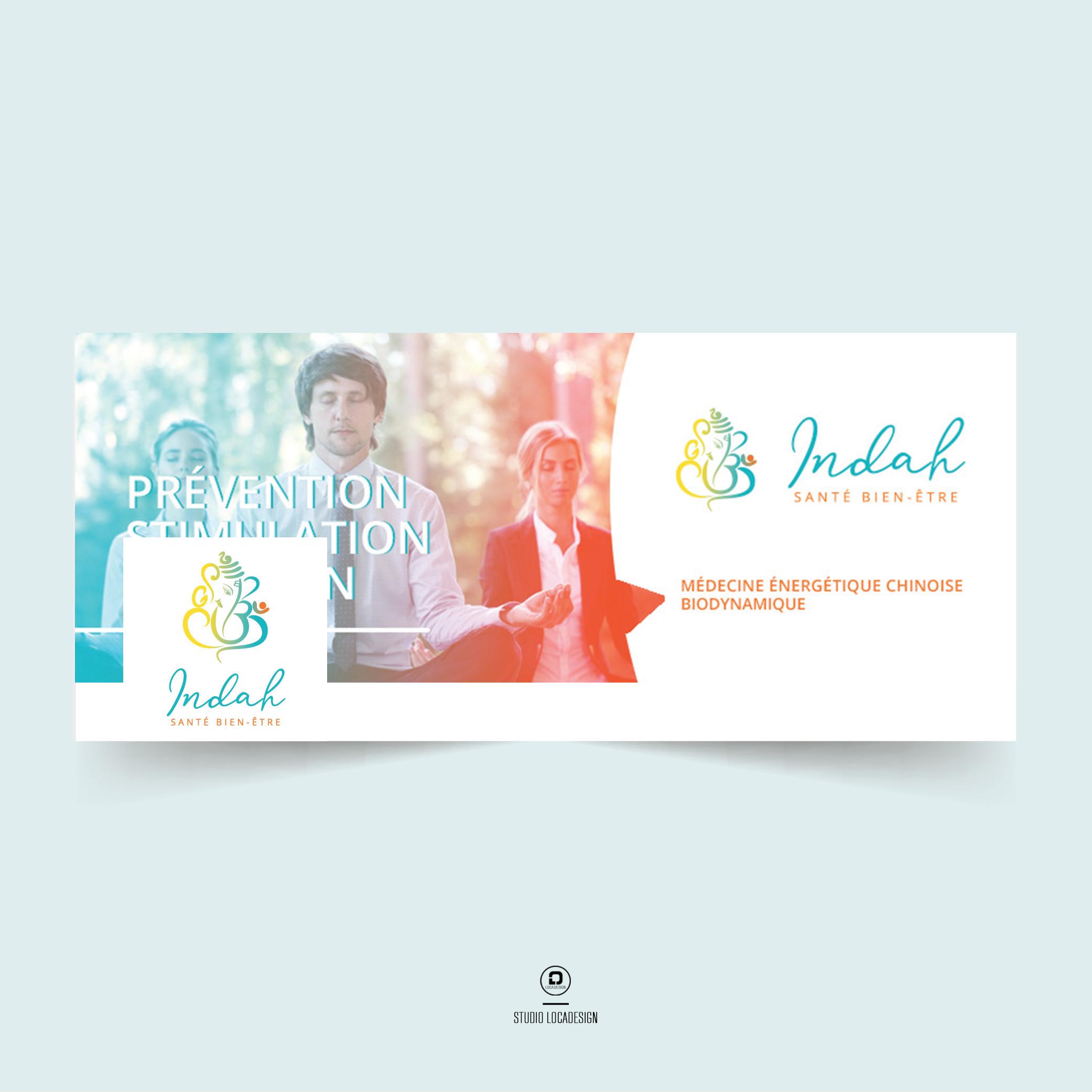 Bannière web Facebook Indah Santé Bien être Création Studio Locadesign 83