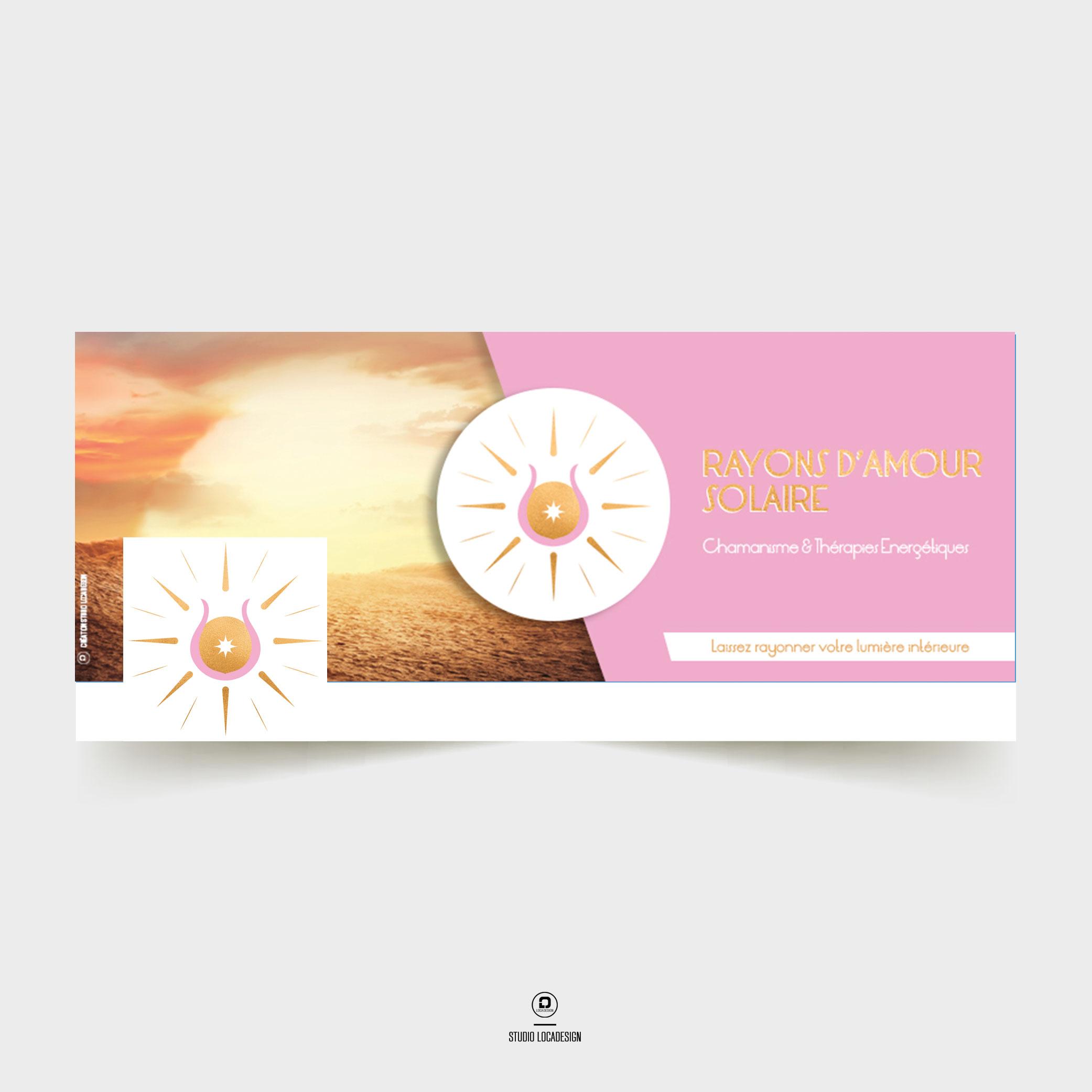 Bannière web Facebook Rayons d'amour solaires Création Studio Locadesign 83